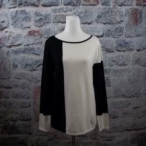 Jones of New York Color Block Knit Sweater-L, NWT